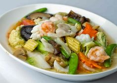 ideas for seafood stew healthy Shrimp Recipes, Diet Recipes, Cooking Recipes, Healthy Recipes, Vegetable Dishes, Vegetable Recipes, Menu Vegetariano, Mie Goreng, Malay Food