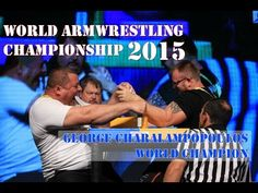 World armwrestling champion George Charalampopoulos