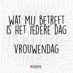 """#darum #vrouwendag #whoruntheworld"""