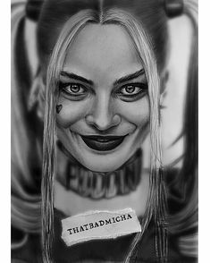 WANT A SHOUTOUT ?   CLICK LINK IN MY PROFILE !!!    Tag  #DRKYSELA   Repost from @thatbadmicha   Miss HARLEEN QUINZEL !! Thank you so much again for these amazing shots you've done to the cast of the #SUICIDESQUAD movie @clayenos ! In love with em and @infamous_harley_quinn  #wip #workinprogress #instaart #thatbadmicha #drawing #draw #portrait #pencil #instalike #photooftheday #suicidesquad #cosplay #makeup #realistic #artistic #sexy #girl #blonde #instagood #harleyquinn #tattoo…