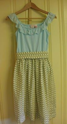Use an old shirt and a couple yards of fabric to make a new dress. free tutorial.