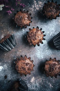These Cocoa Ricotta Muffins With Chocolate Streusel are dense and fudgy. This recipe is easy to whip up and perfect for an on the go breakfast, served with afternoon tea, or enjoyed as dessert.
