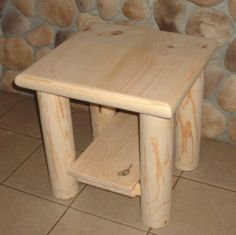 END TABLE - NIGHTSTAND LOG FURNITURE BED 20UF