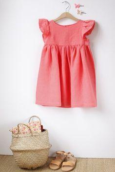 Summer Inspiration Girls Dress Pair with neutral / gold sandal