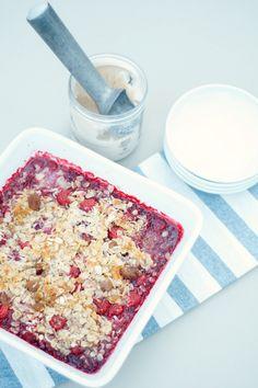 Classic Raspberry Crisp Recipe | reluctantentertainer.com