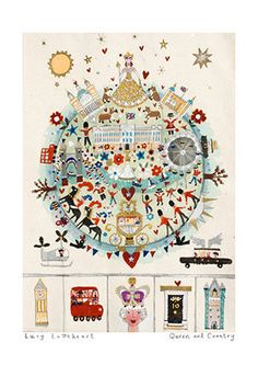 Art Prints | Queen And Country | Lucy Loveheart