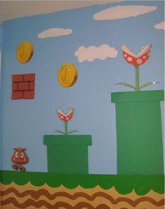 Super Mario Bros Bedroom. Love it!