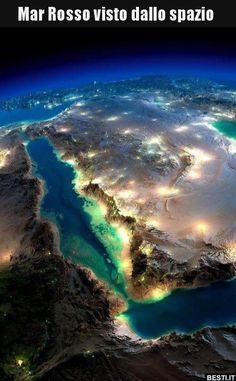Magnificent NASA pictures of Earth from space (with post-prod work from Anton Balazh) Somalie Mer rouge, Arabie Saoudite Cosmos, Beautiful World, Beautiful Places, Beautiful Beautiful, Earth At Night, The Meta Picture, Foto Art, Aerial Photography, Stunning Photography