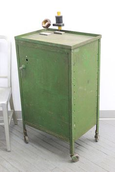 Industrial Factory Laundry Bin Commercial Sized Cart Circa