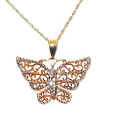 10K+Butterfly+Pendant+with+Chain+Yellow+and+Rose+Gold++#Unbranded+#Pendant http://stores.ebay.com/JEWELRY-AND-GIFTS-BY-ALICE-AND-ANN