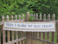 Burlap Wedding Isle Banner