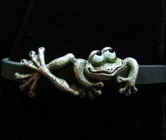 Whimsical Silver Frog Bracelet Bliss On by LinkWachlerDesigns