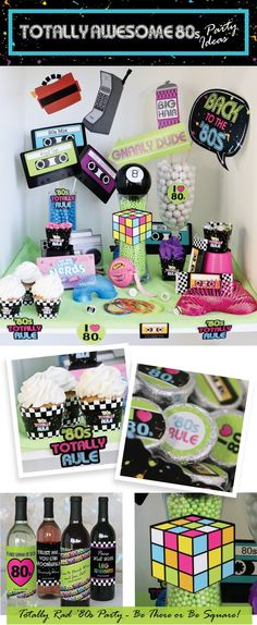 The '80s Totally Rule - 1980s Party Supplies - Retro Party Ideas | BigDotOfHappiness.com