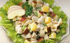 Még a pasik is szeretik! Hawaiian Chicken Salad, Creamy Salad Dressing, Canned Pineapple, Chicken Salad Recipes, Cobb Salad, Clean Eating, Curry, Yummy Food, Lunch