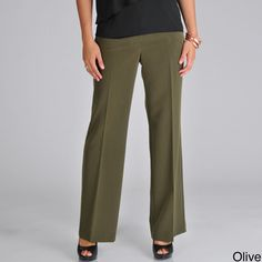 @Overstock - These women's modern bi-stretch pants from Focus 2000 feature a two button tab closure with two slash pockets. These full length pants are pleated for a professional finish.http://www.overstock.com/Clothing-Shoes/Focus-2000-Womens-Modern-Bi-Stretch-Pant/7183741/product.html?CID=214117 $36.99