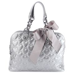fa65c596f48 Betsey Johnson Mine and Yours Dome Satchel-Pewter