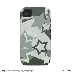 Grey stars iPhone 4 cases