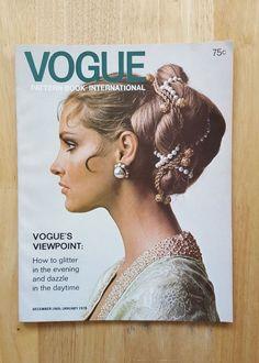 Vintage Vogue Pattern Book December 1969 - January 1970 | eBay