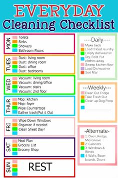 daily cleaning routine checklist -useful list of daily chores to keep your house clean and clutter-free WITHOUT feeling overwhelmed! / / / Get free access to a huge number of private professional Monthly Cleaning Schedule, House Cleaning Checklist, Clean House Schedule, Daily Cleaning Lists, Spring Cleaning Schedules, Chore Checklist, Spring Cleaning List, Clean My House, Deep Cleaning Tips