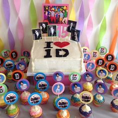 One direction cake and cupcakes by eat your heart out cupcakes!