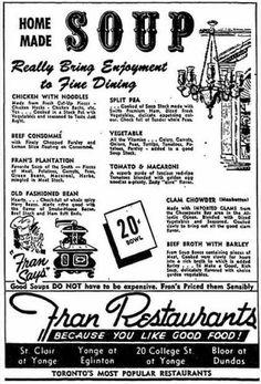 Fran Restaurants ~ 1959