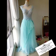 Blue Sky drape skirt by Yenny Lee Bridal Couture | www.yennyleecouture.com