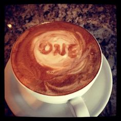 We love this! #ONE #Coffee