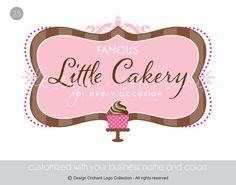 Elegant Bakery Logo With Cupcake Illustration by DesignOrchard, $45.00