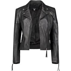 Boohoo Boutique Amelia Leather Biker Jacket ($123) ❤ liked on Polyvore featuring outerwear, jackets, coats, coats & jackets, leather jacket, genuine leather biker jacket, duster coat, motorcycle jacket, genuine leather jackets and puff jacket