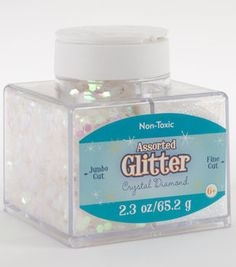 Assorted Glitter Jumbo and Fine Cut - Crystal Diamond Glitter Crafts, Glitter Slime, Cheap Slime, Slime Containers, Rose Gold Room Decor, Galaxy Slime, Slime Craft, Slime Shops, Vintage Jewelry Crafts