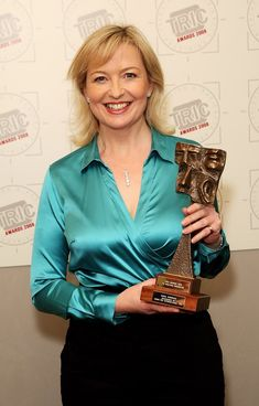 Carol Kirkwood getting a prize for being Carol Kirkwood. Carol Kirkwood, Satin Blouses, Sexy Older Women, Blouse And Skirt, In Pantyhose, Fashion Tips For Women, Stretch Lace, Sexy Legs, Lady
