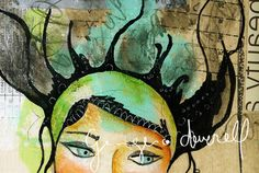 Harmony Giclee Reproduction From Original Mixed by Ginger Deverell, RedPearCreative, $23.80 - #MixedMediaArt