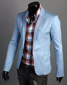 Trendy-Mens-Casual-Slim-Fit-One-Button-Suit-Blazer-Coat-Jacket-Tops-New-Stylish