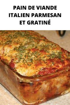Parmesan and Gratin Italian Meatloaf - Page 2 - Easy Recipes Mini Meatloaf Recipes, Classic Meatloaf Recipe, Easy Meatloaf, Meat Recipes, Asian Recipes, Crockpot Recipes, Cooking Recipes, Parmesan Recipes, Parmesan Crusted Tilapia