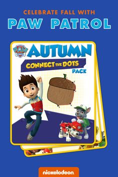 Connect the dots gets cozy with the PAW Patrol pups this Fall.  Your PAW Patrol fan can connect the dots to find out what the pups love most about Fall with this printable activity pack.