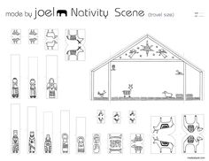 Printable Nativity Scene Template