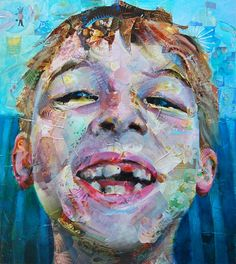 Jeff Huntington - Magazine Collage and painting - Sweet Tooth