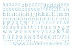 """Alphabet Sticker """"Eva"""" – pastellblau; Bogen 2 (a-z)"""