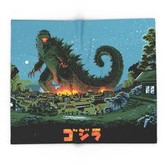 Godzilla - Gray Edition Wall Tapestry by daltonrose King Kong, Dalton James, Fan Art, Weird Creatures, Illustrations, Illustration Art, Beast, Anime, Images