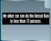 Kessel Run Bumper sticker- add to snack wagon