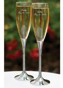 Personalized Wedding Flutes Champagne Zippered by MemorableWedding