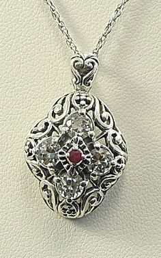 Sterling Silver Pendant Chain Necklace