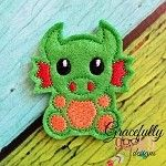 DRagon Feltie ITH Embroidery Design 4x4 hoop (and larger)