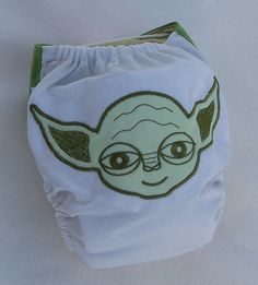 Cloth Diaper Applique Embroidery  Baby Yoda by MyVeryBest on Etsy, $21.95