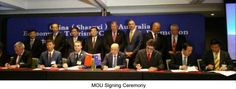 The governor of Shaanxi governor Hu Heping, lead 50 entrepreneurs participated Investment & Trade Forum,organized by Australia International Trade Association and over $70 million deal was signed during the ceremony