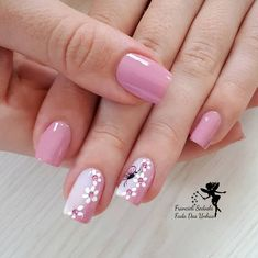 "35 Impressive Pink Nail Art Designs Ideas What are Pink and White Nails? In short, they are what's commonly referred to as a ""French manicure\"" -- pink […] Cute Pink Nails, Pink Nail Art, Pretty Nails, Nail Designs Spring, Nail Art Designs, Nagel Hacks, White Acrylic Nails, Black Nail, Fingernail Designs"