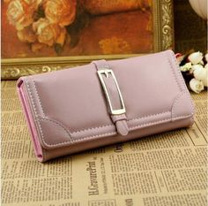 (click image, then visit site for more details) Clutch Wallet, Pu Leather, Corner, Detail, Pink, Bags, Women, Handbags, Pink Hair