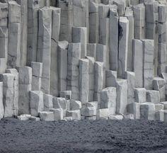 The basalt rock columns atVík in Mýrdal, South Iceland.