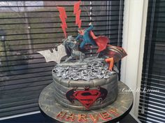 New Batman Vs Superman Cake by Cake-D-Licious