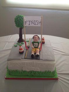 Marathon runner cake!